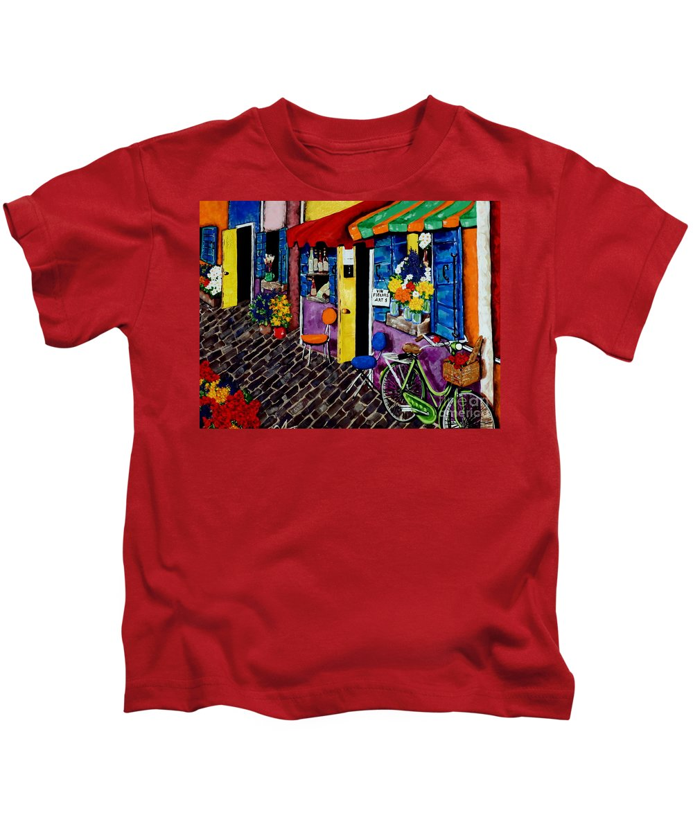 Street Kids T-Shirt featuring the painting Artist Avenue by Jackie Carpenter