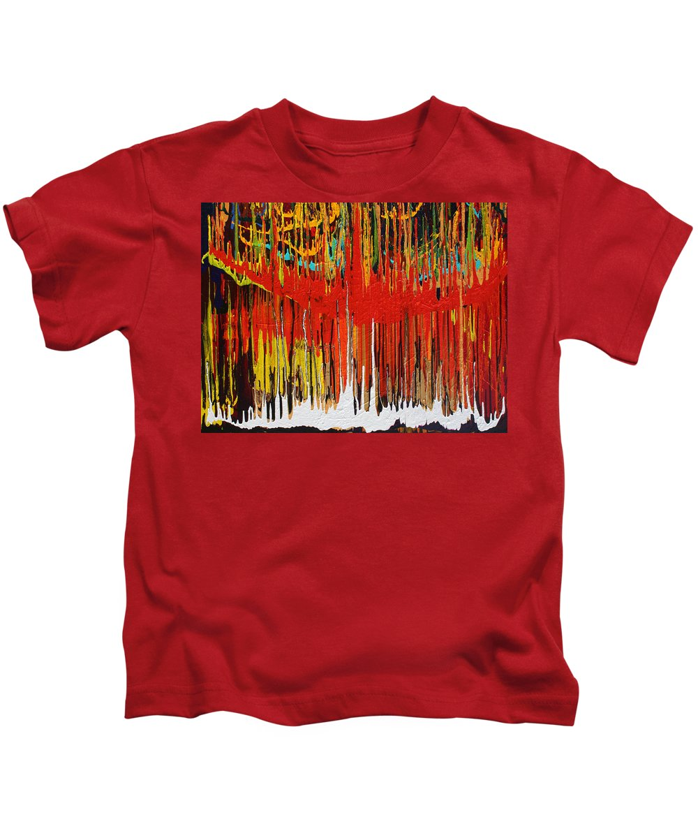 Fusionart Kids T-Shirt featuring the painting Ascension by Ralph White