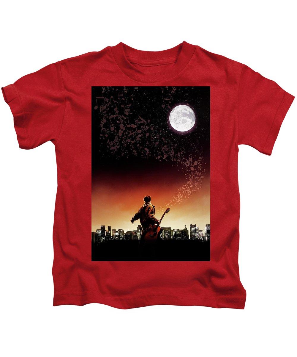 August Rush 2007 Kids T-Shirt featuring the digital art August Rush 2007 by Geek N Rock