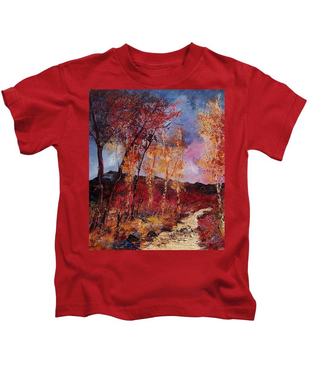 Tree Kids T-Shirt featuring the painting Autumn 6712545 by Pol Ledent