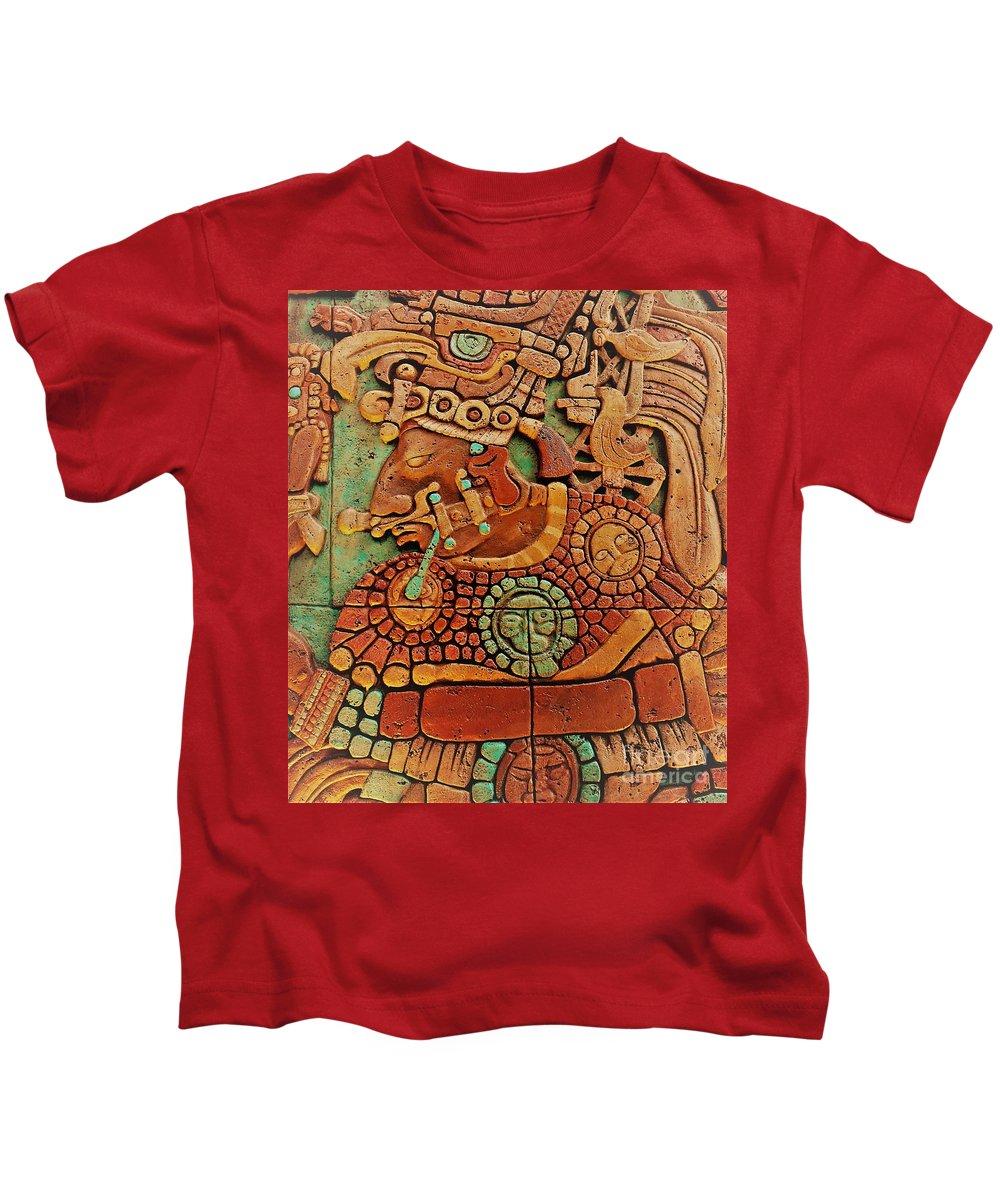 Mesoamerican Kids T-Shirt featuring the photograph Aztec by Mesa Teresita
