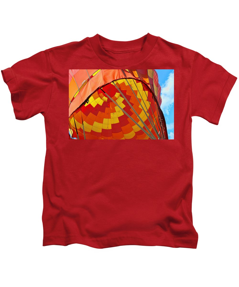 Colors Kids T-Shirt featuring the photograph Balloon Fantasy 30 by Allen Beatty