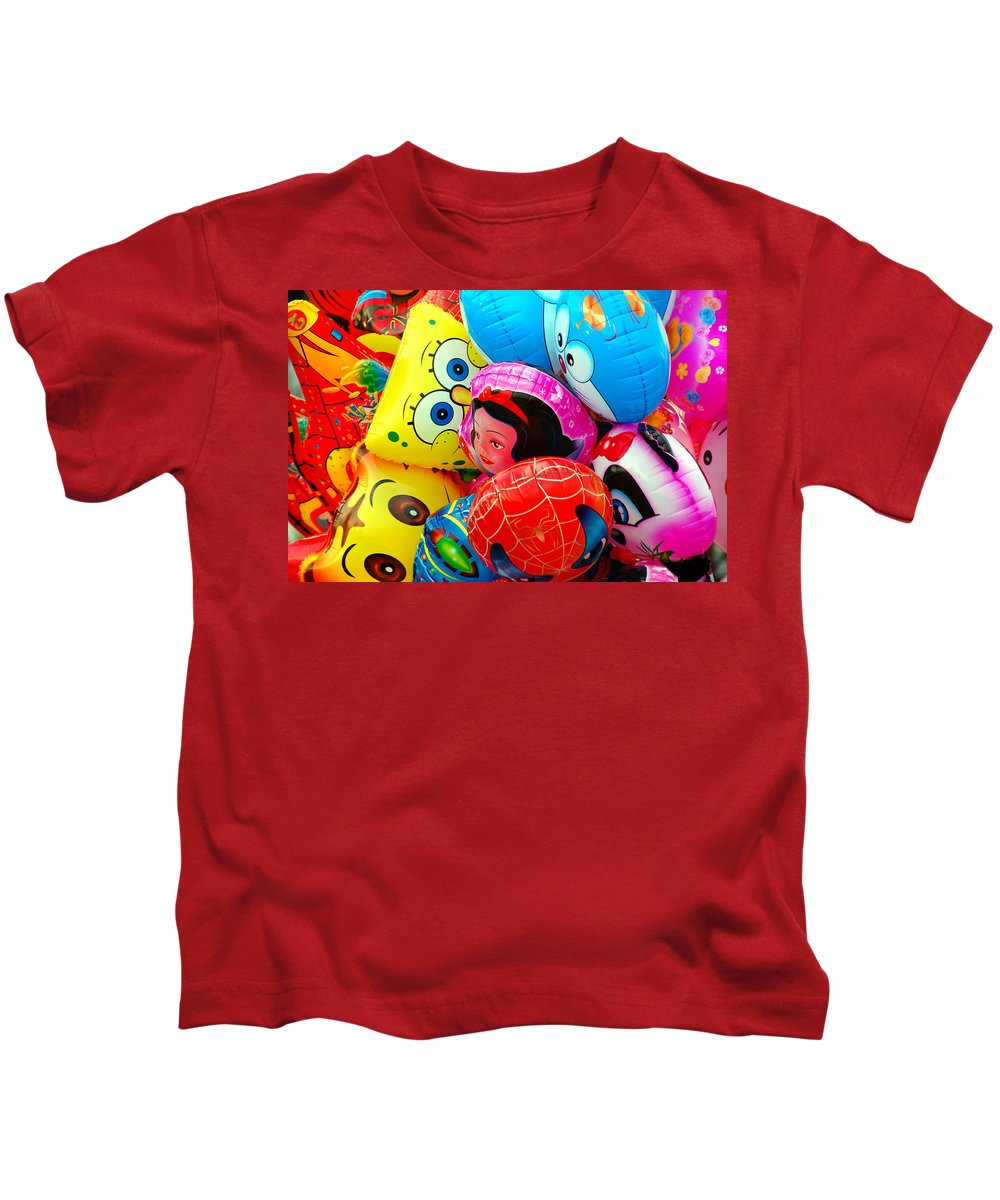 Colorful Kids T-Shirt featuring the photograph Balloons by Charuhas Images