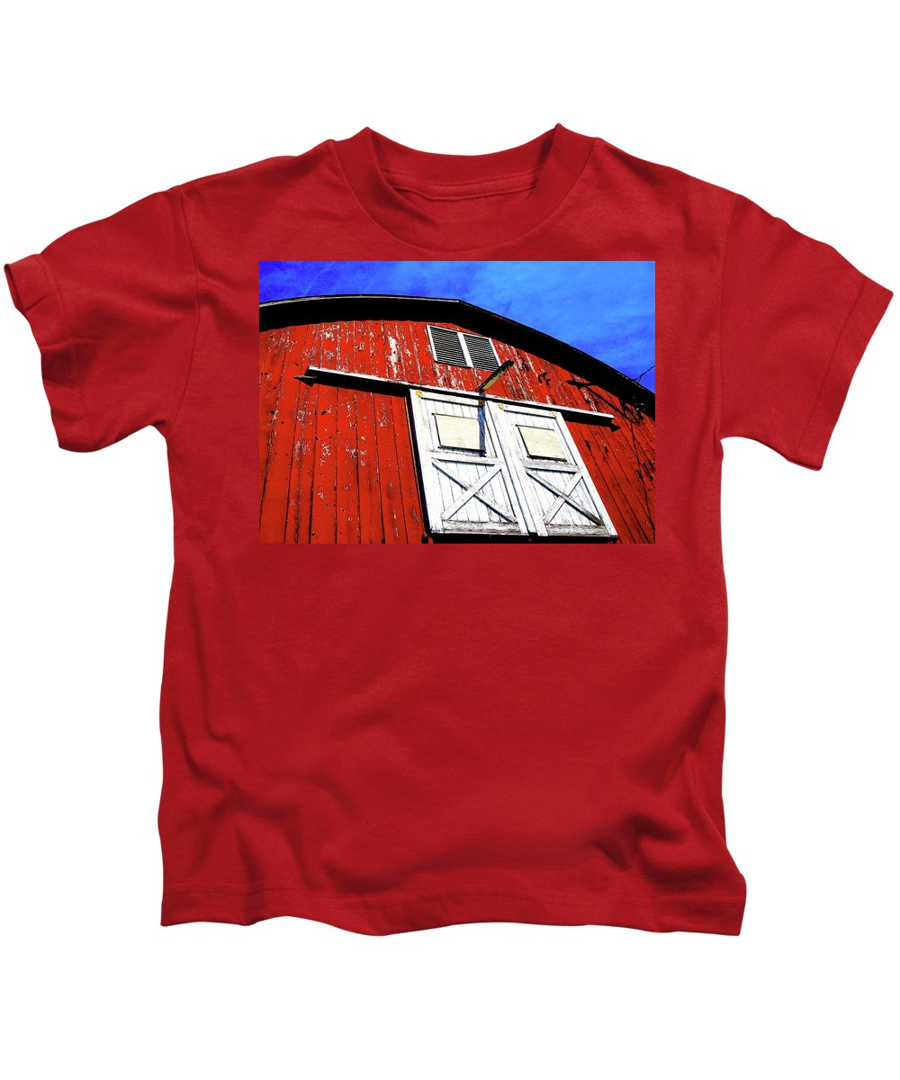 Barn Kids T-Shirt featuring the photograph Beautiful Day by Jane Alexander