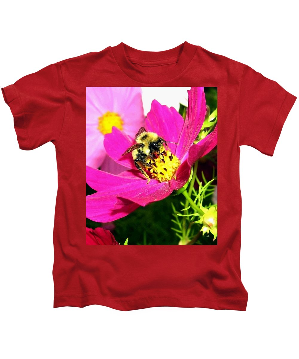 Bee Kids T-Shirt featuring the photograph Bee-line 3 by Will Borden