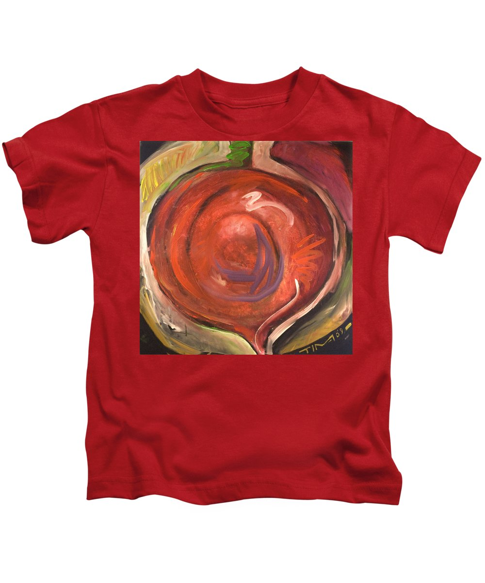 Beet Kids T-Shirt featuring the painting Beet It by Tim Nyberg