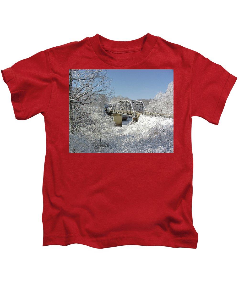 Elliott Kids T-Shirt featuring the photograph Bert White Bridge by Randall Evans