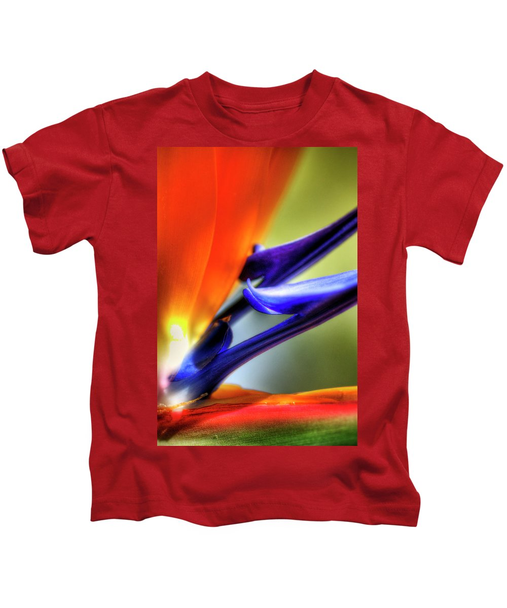 Bird Of Paradise Kids T-Shirt featuring the photograph Bird Of Paradise by Saija Lehtonen