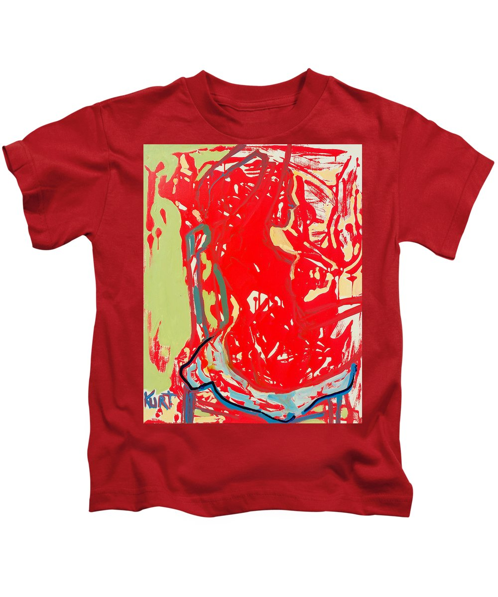 Nude Kids T-Shirt featuring the painting Blue Chair by Kurt Hausmann