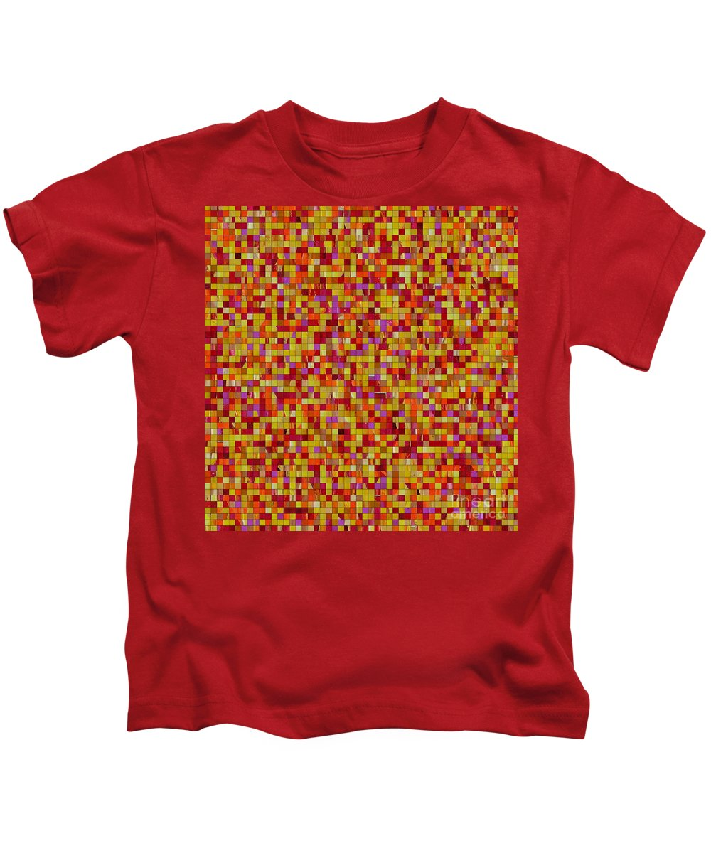 Original Abstract Painting...for Originals...www.dawnsebaugh.com Kids T-Shirt featuring the painting Bold Impressions by Dawn Hough Sebaugh