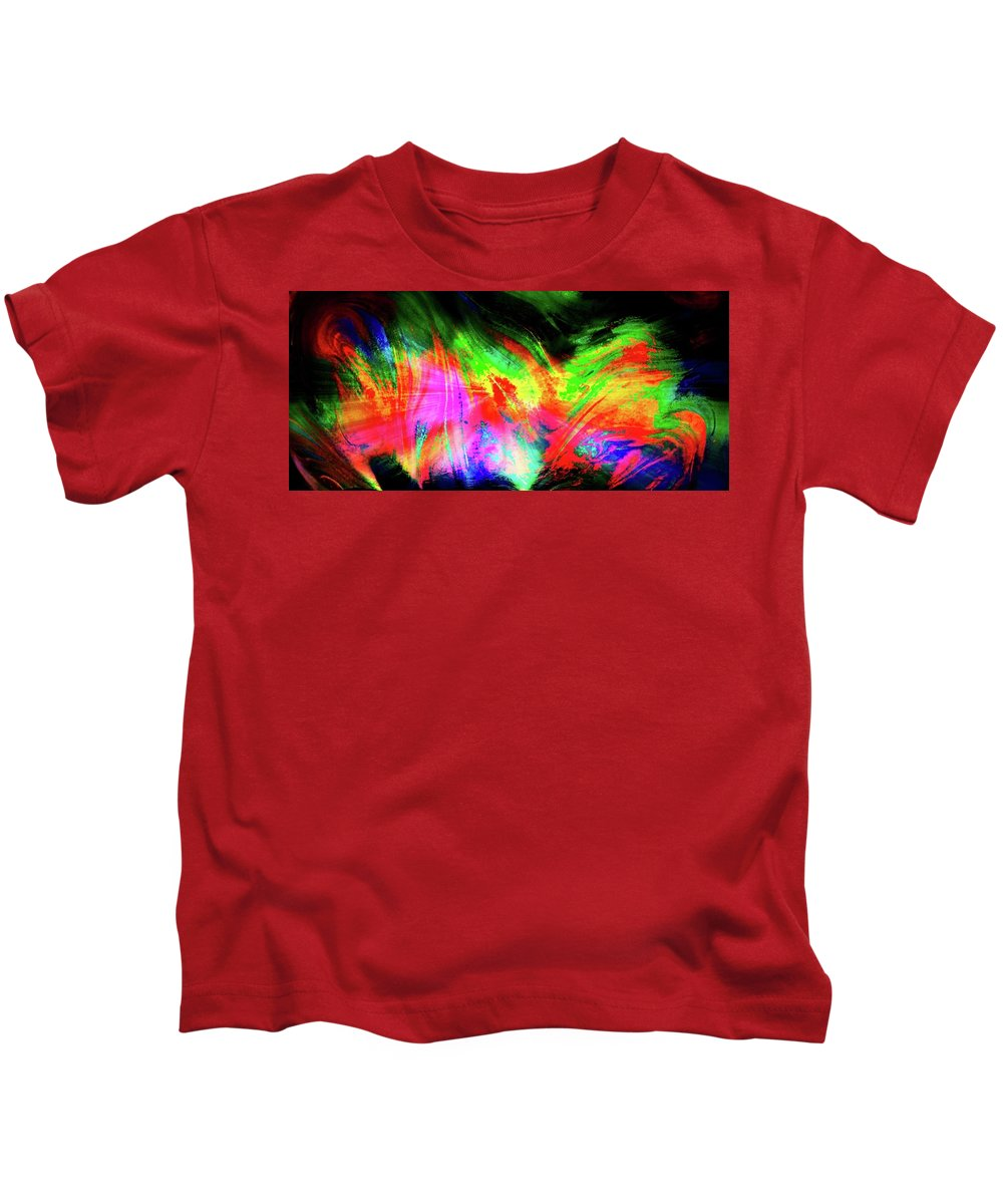 Aurora Borealis Kids T-Shirt featuring the photograph Borealis Explosion Rupture by Tim G Ross
