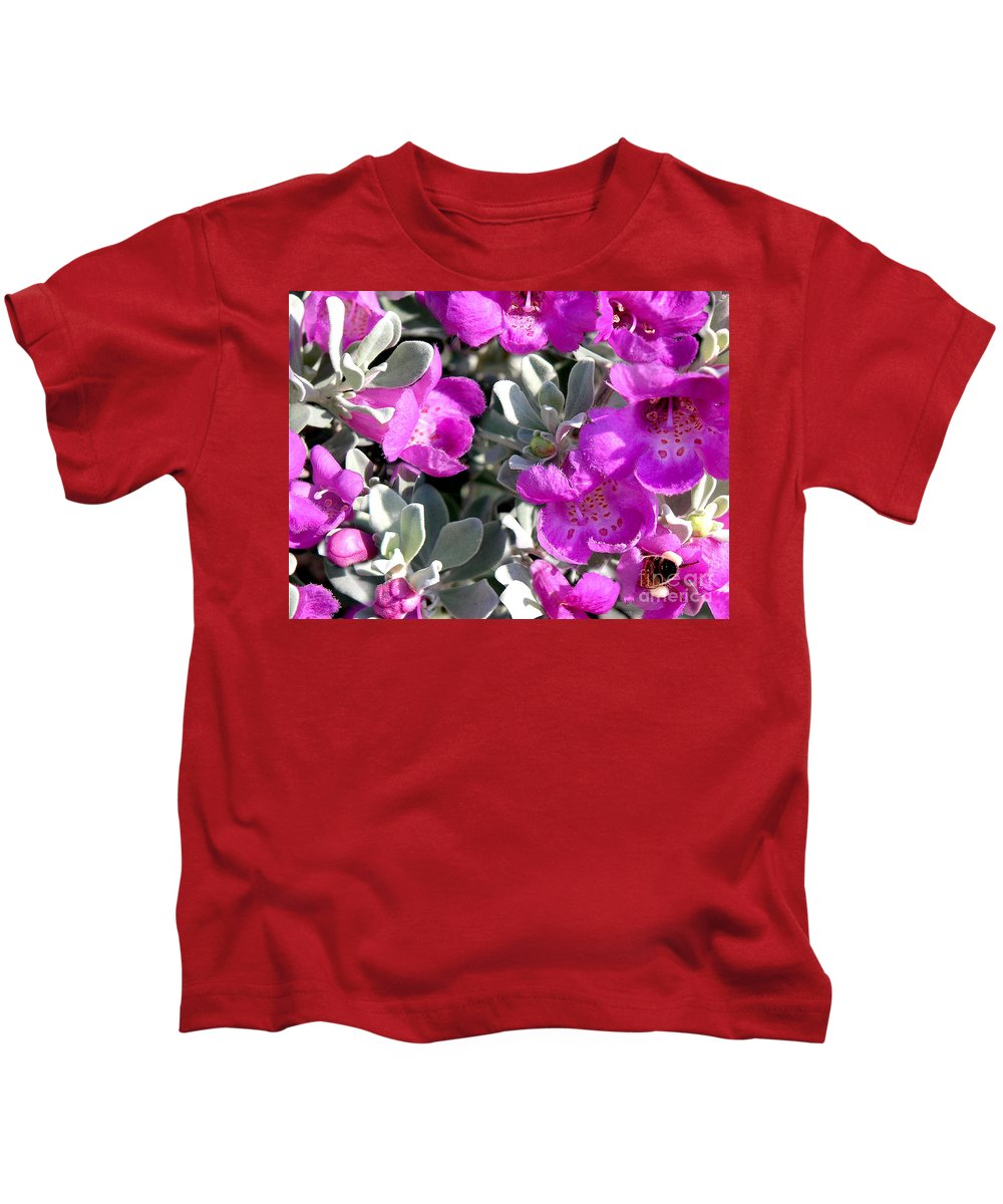 Nature Kids T-Shirt featuring the photograph Bottoms Up by Lucyna A M Green