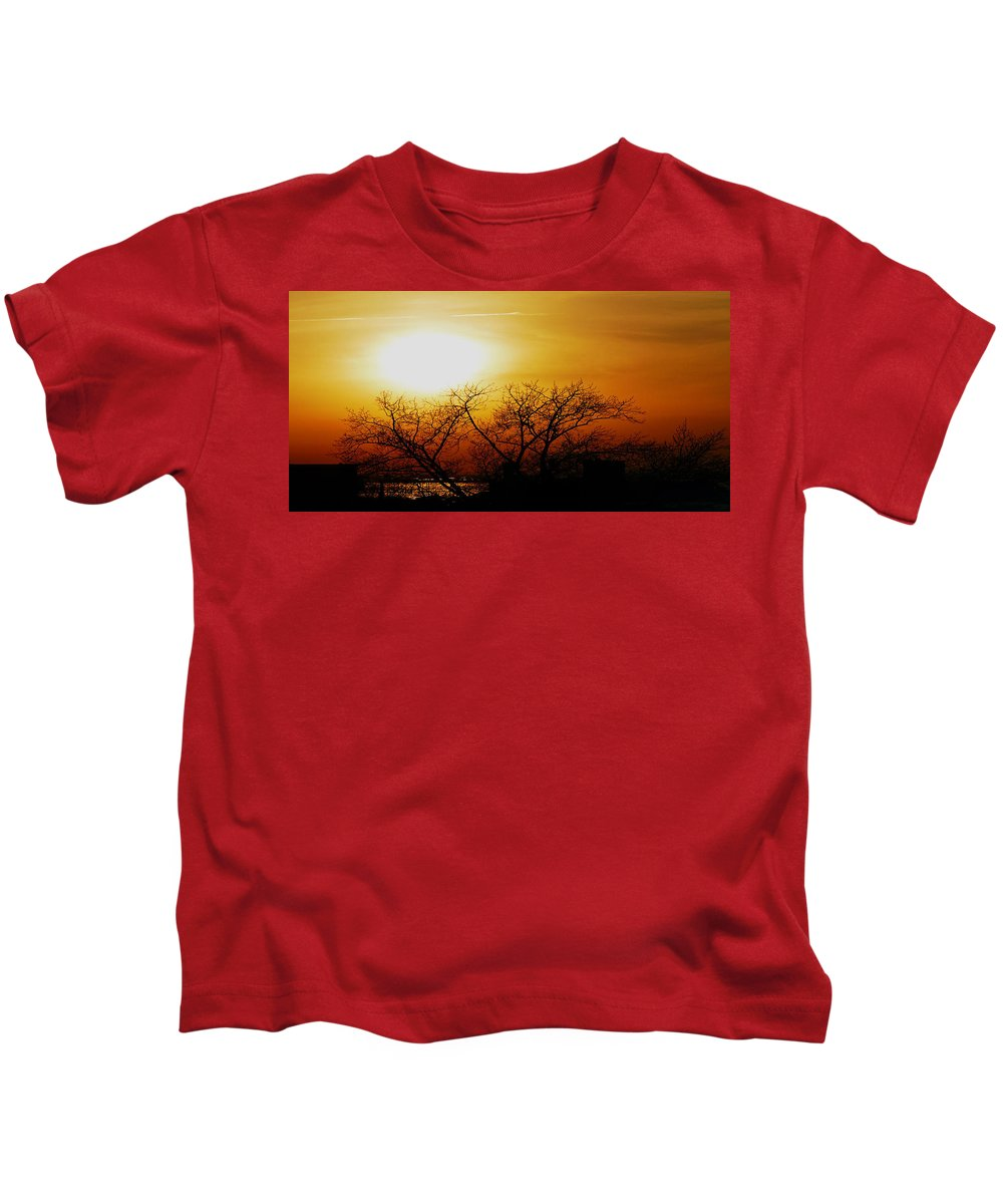 Landscape Kids T-Shirt featuring the photograph Branches by Kendall Eutemey
