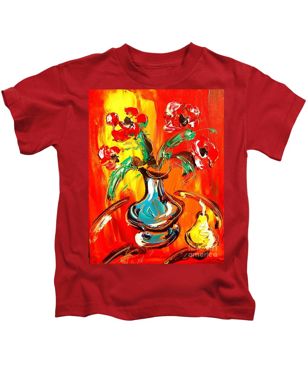 Kids T-Shirt featuring the digital art Bright Flowers by Mark Kazav