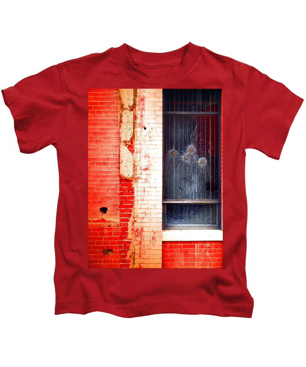 Glass Kids T-Shirt featuring the photograph Broken Glass Like Flowers by Tara Turner