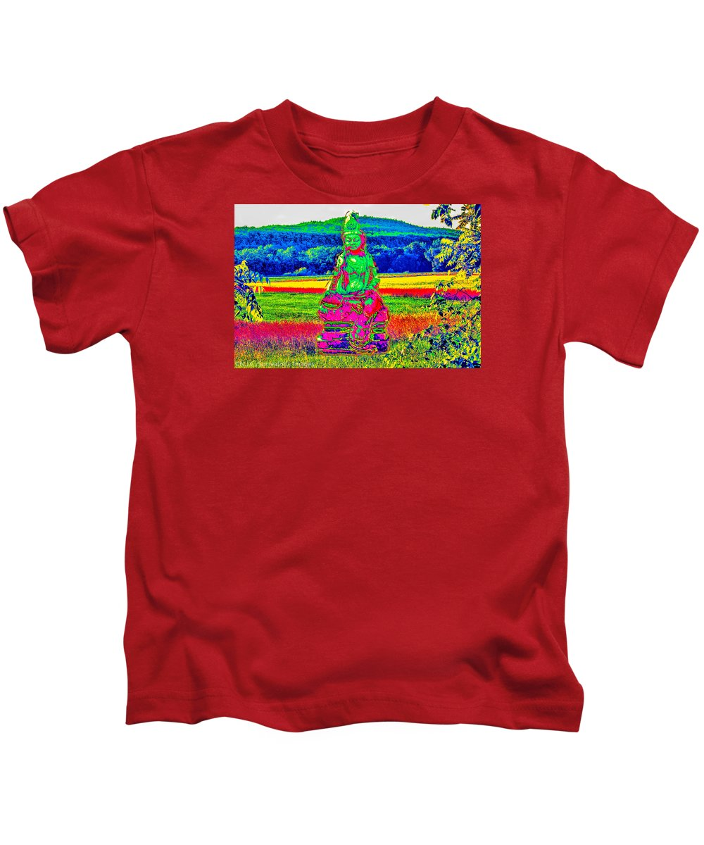 Fine Art Photography Kids T-Shirt featuring the photograph Buddha Dreaming by Nicholas Costanzo