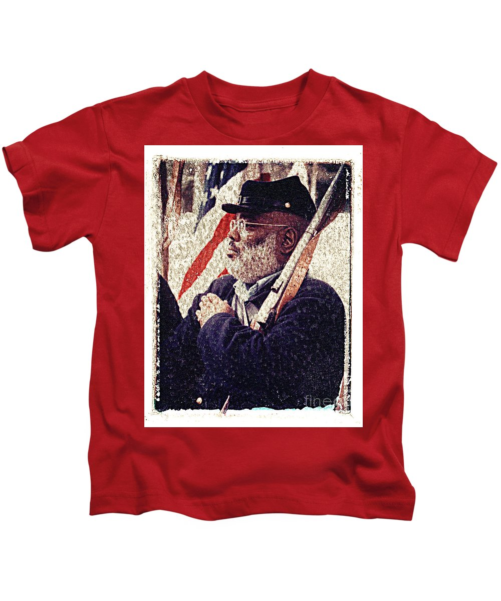 Buffalo Soldier Kids T-Shirt featuring the photograph Buffalo Soldier by Keith Dillon