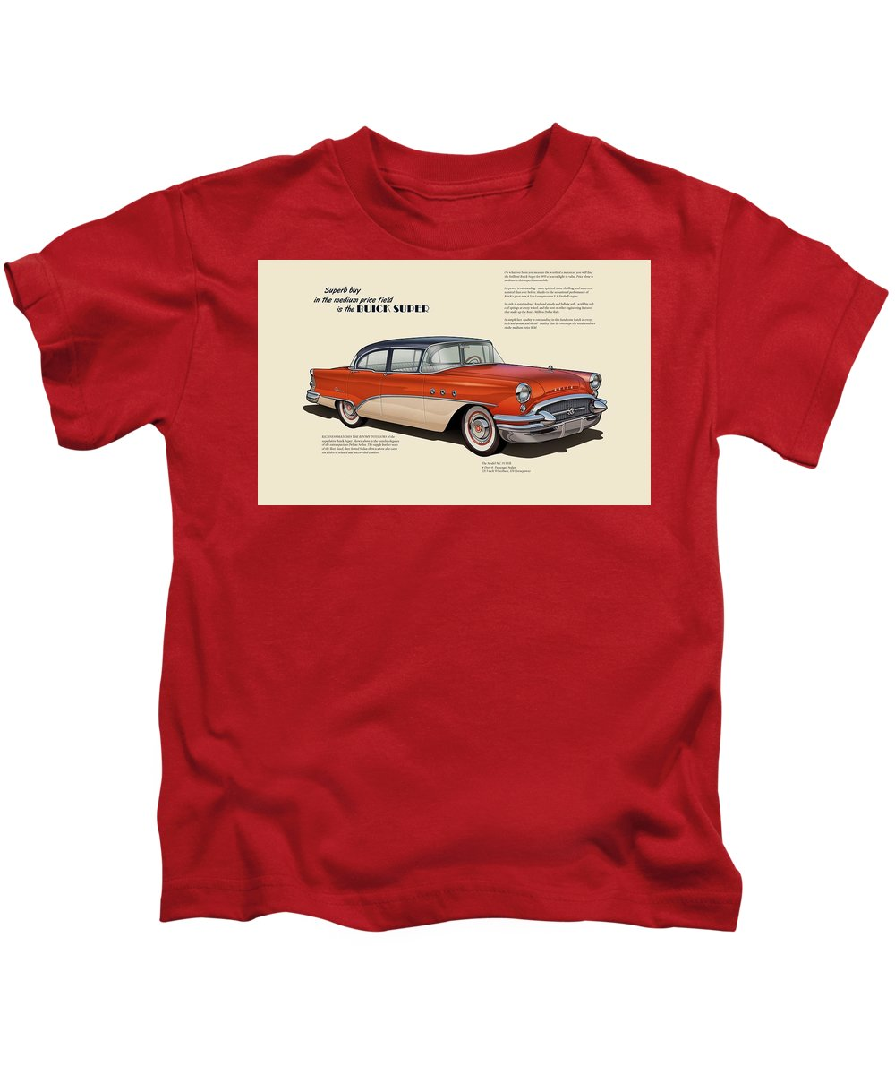 Buick Super Kids T-Shirt featuring the digital art Buick Super by Dorothy Binder