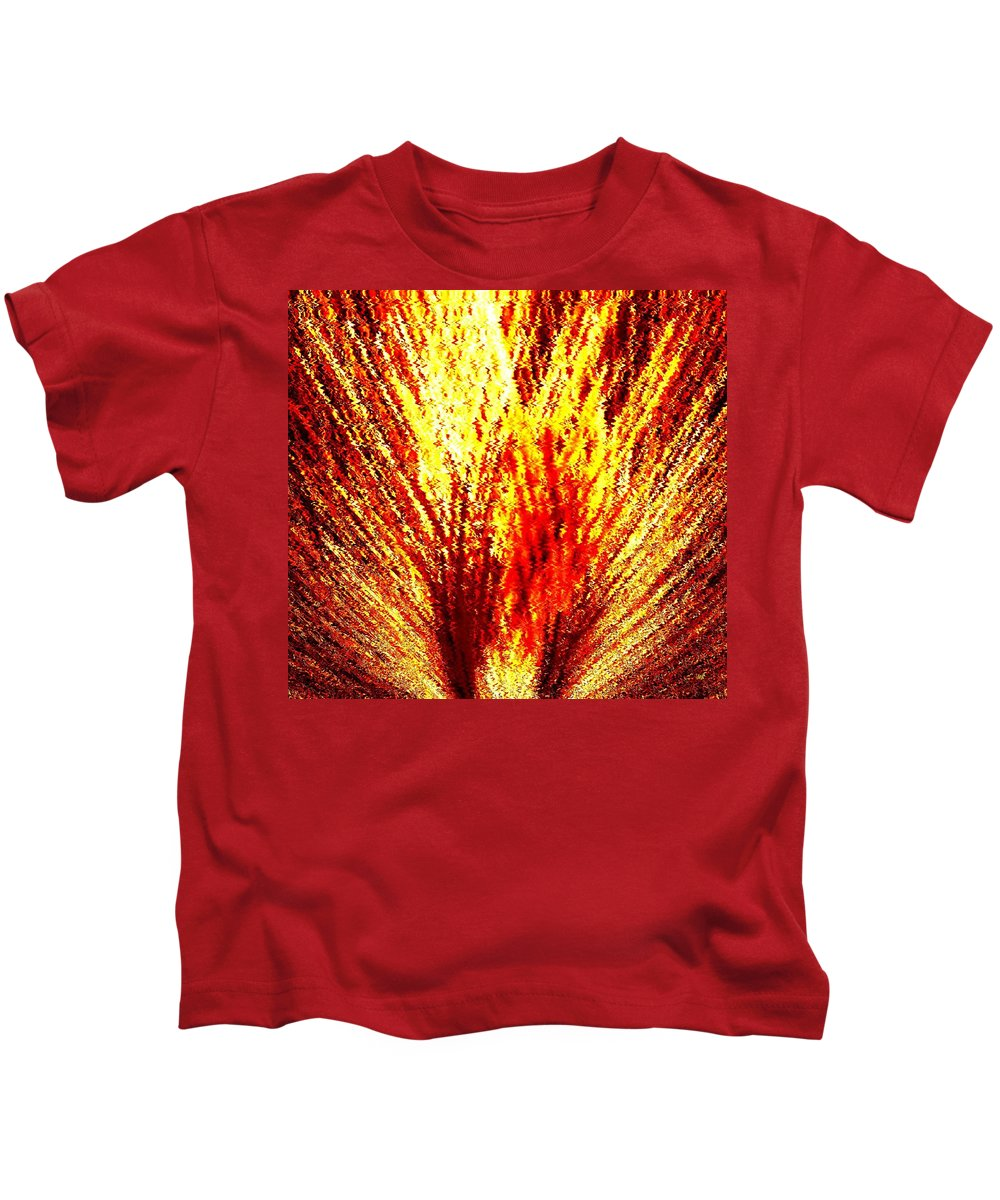 Abstract Kids T-Shirt featuring the digital art Burning Bush by Will Borden