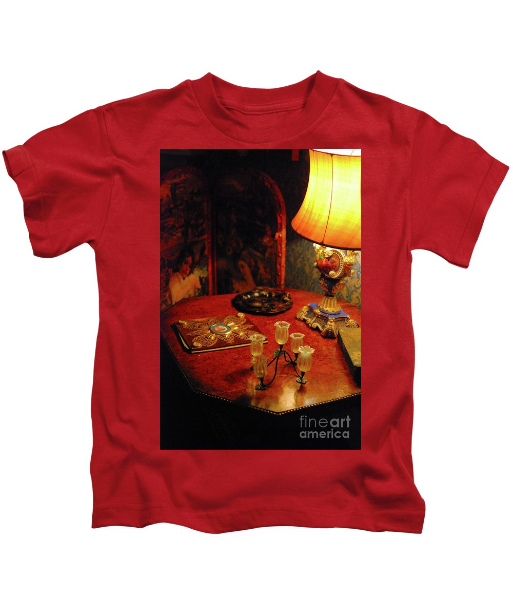 Lamp Kids T-Shirt featuring the photograph By Lamplight by Richard Gibb