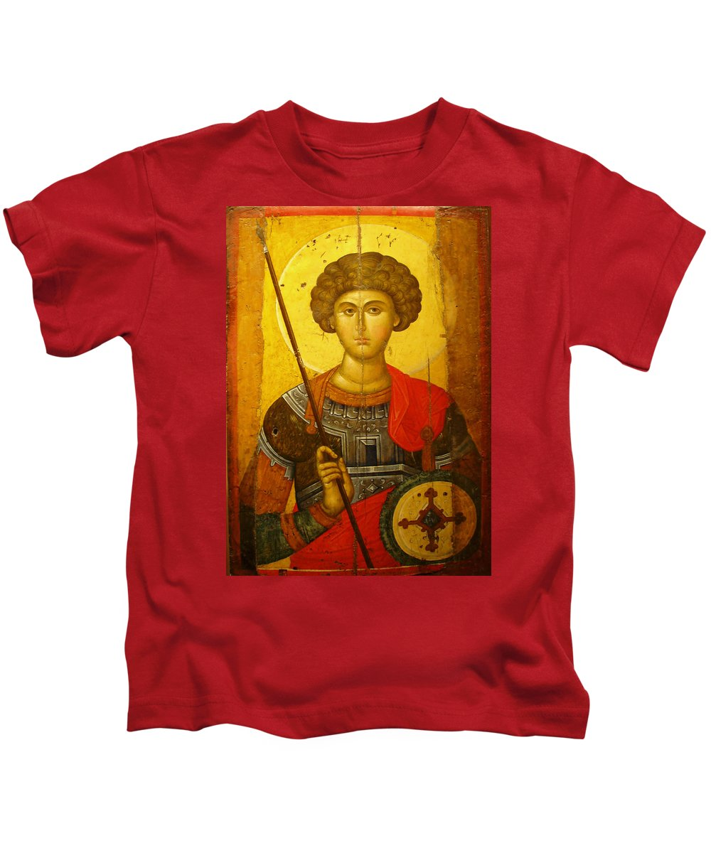 Byzantine Knight Kids T-Shirt featuring the photograph Byzantine Knight by Ellen Henneke