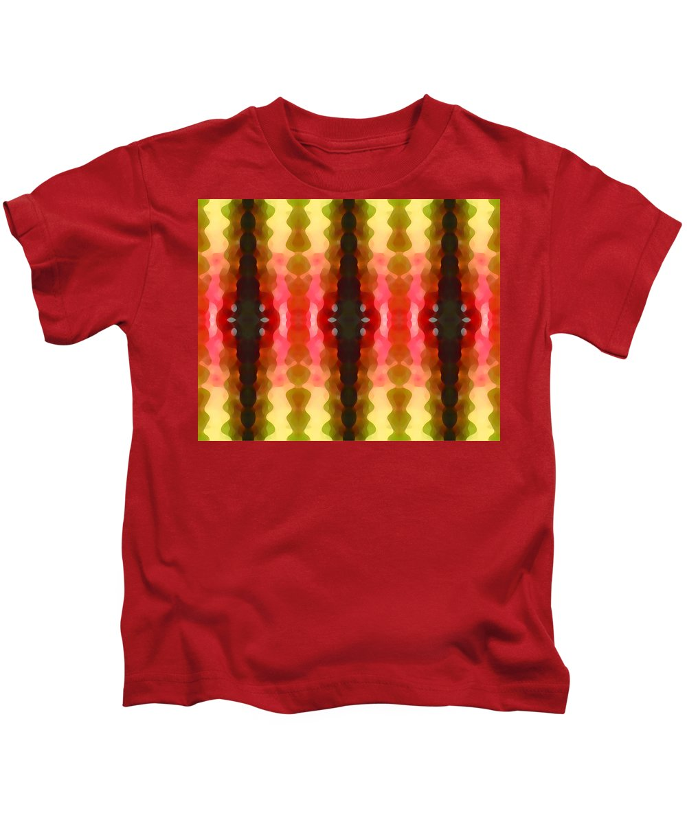 Abstract Kids T-Shirt featuring the painting Cactus Vibrations 2 by Amy Vangsgard