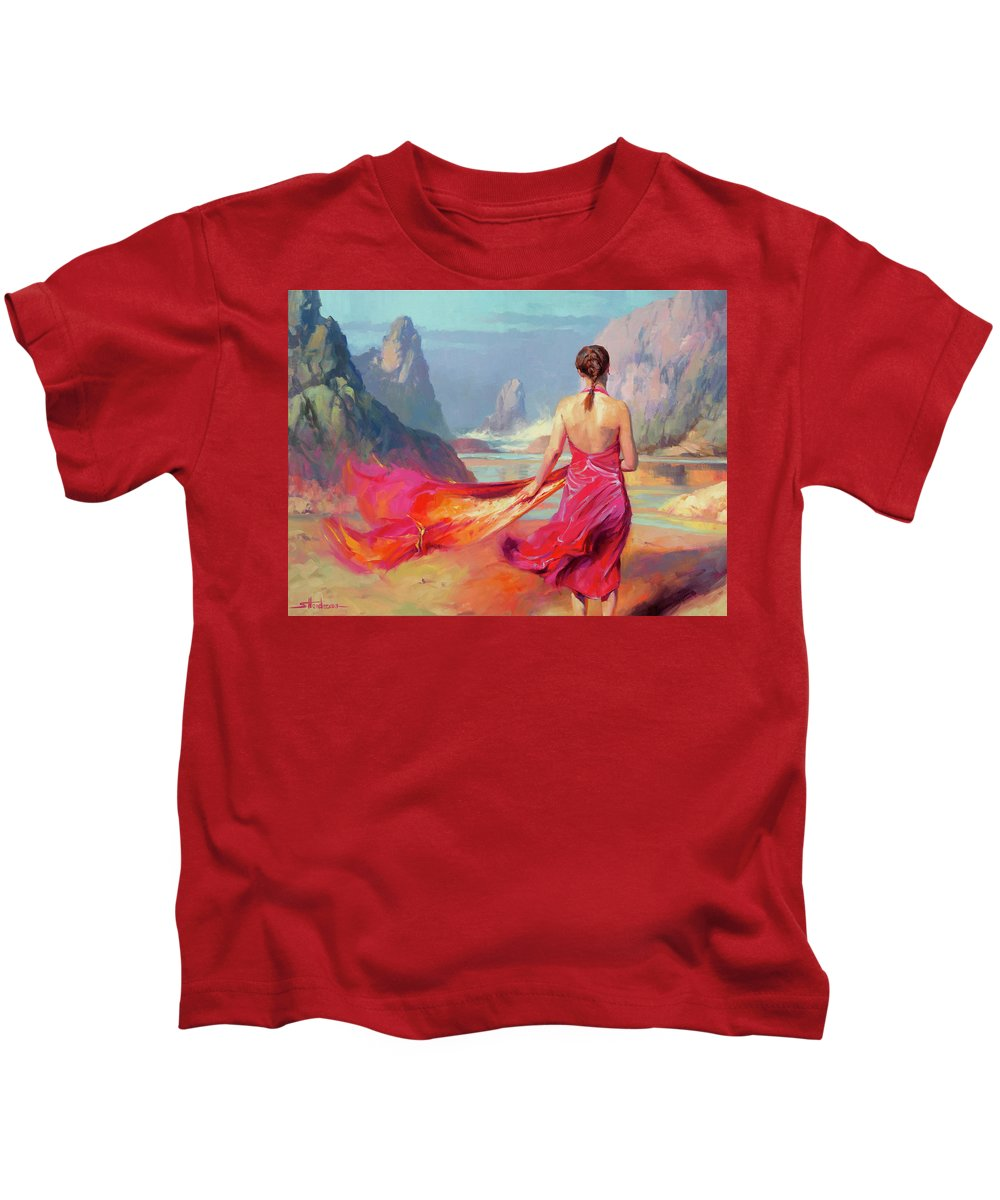 Coast Kids T-Shirt featuring the painting Cadence by Steve Henderson