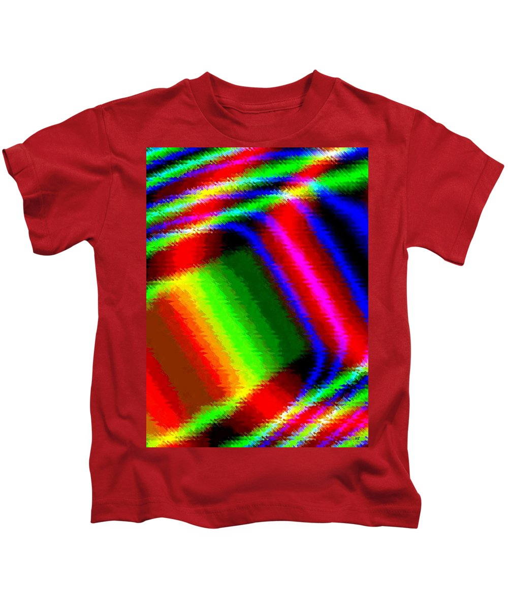Abstract Kids T-Shirt featuring the digital art Candid Color 15 by Will Borden