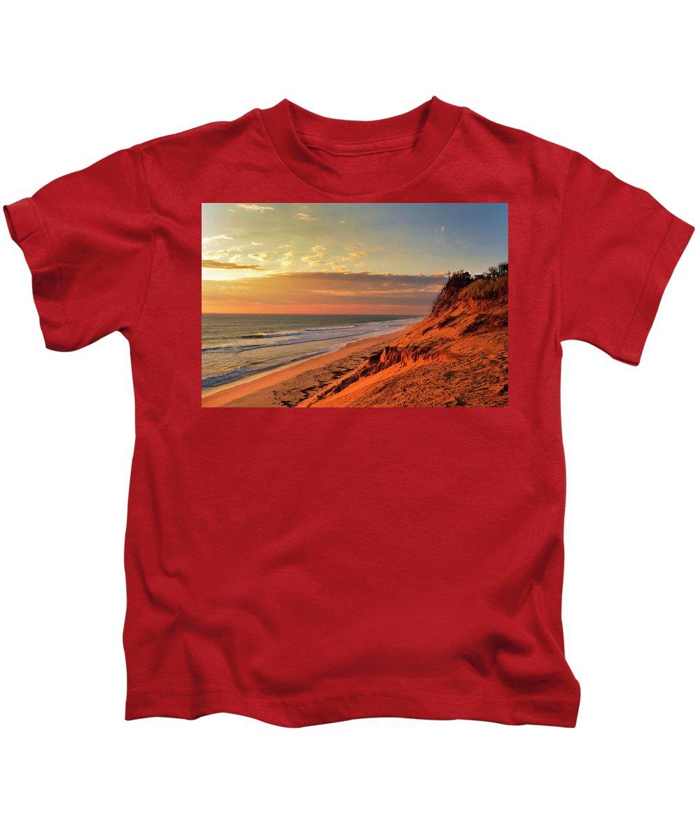 Kids T-Shirt featuring the photograph Cape Sunrise Sands by Garrett Sheehan