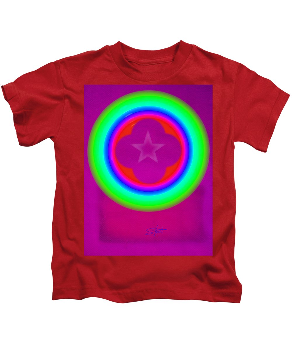 Abstract Kids T-Shirt featuring the painting Cardinal See by Charles Stuart