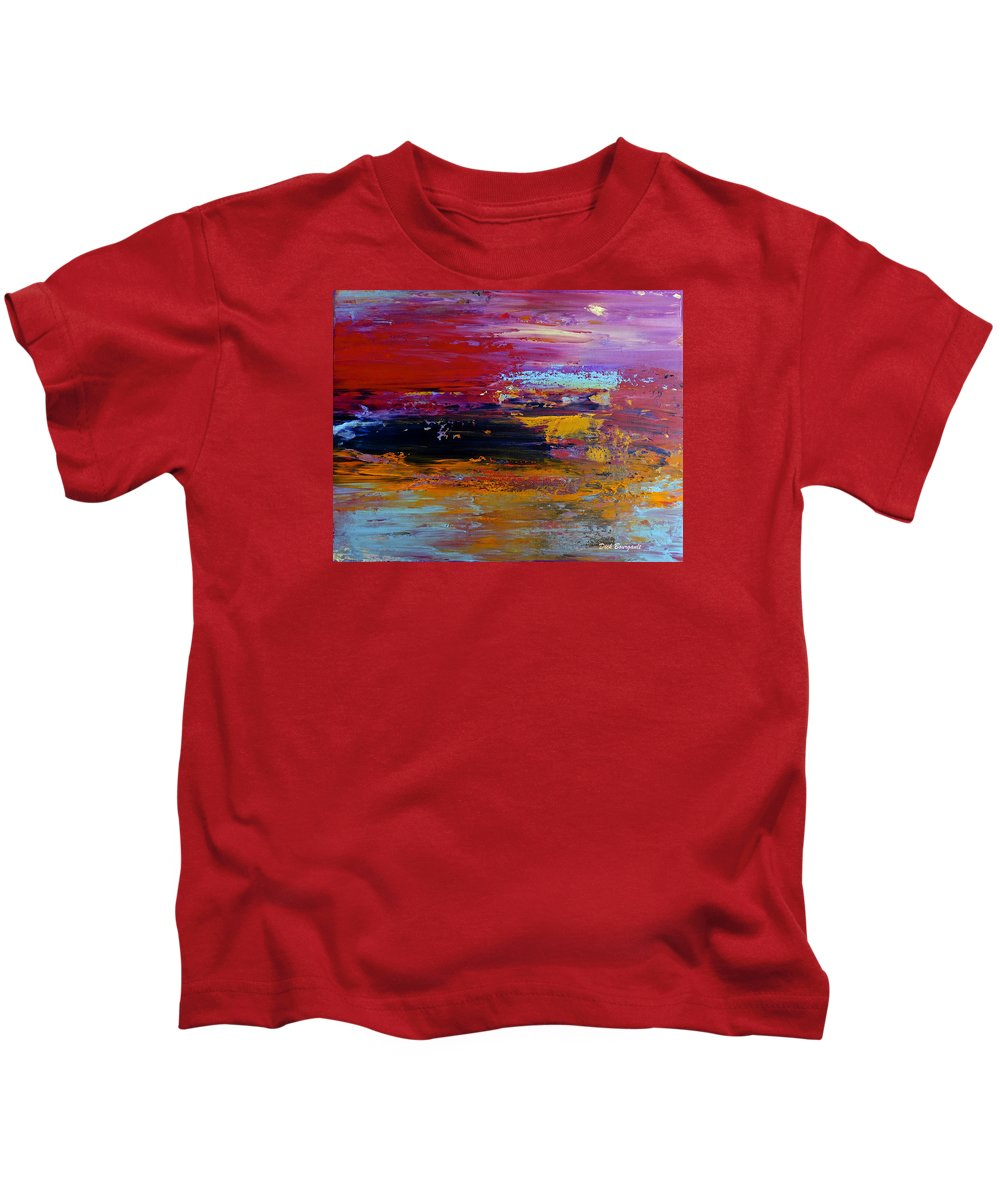 Abstract Kids T-Shirt featuring the painting Celebration by Dick Bourgault