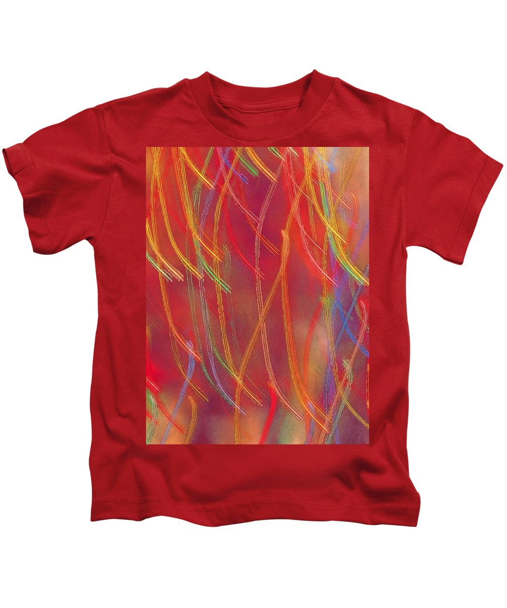 Abstract Kids T-Shirt featuring the photograph Celebration by Gaby Swanson