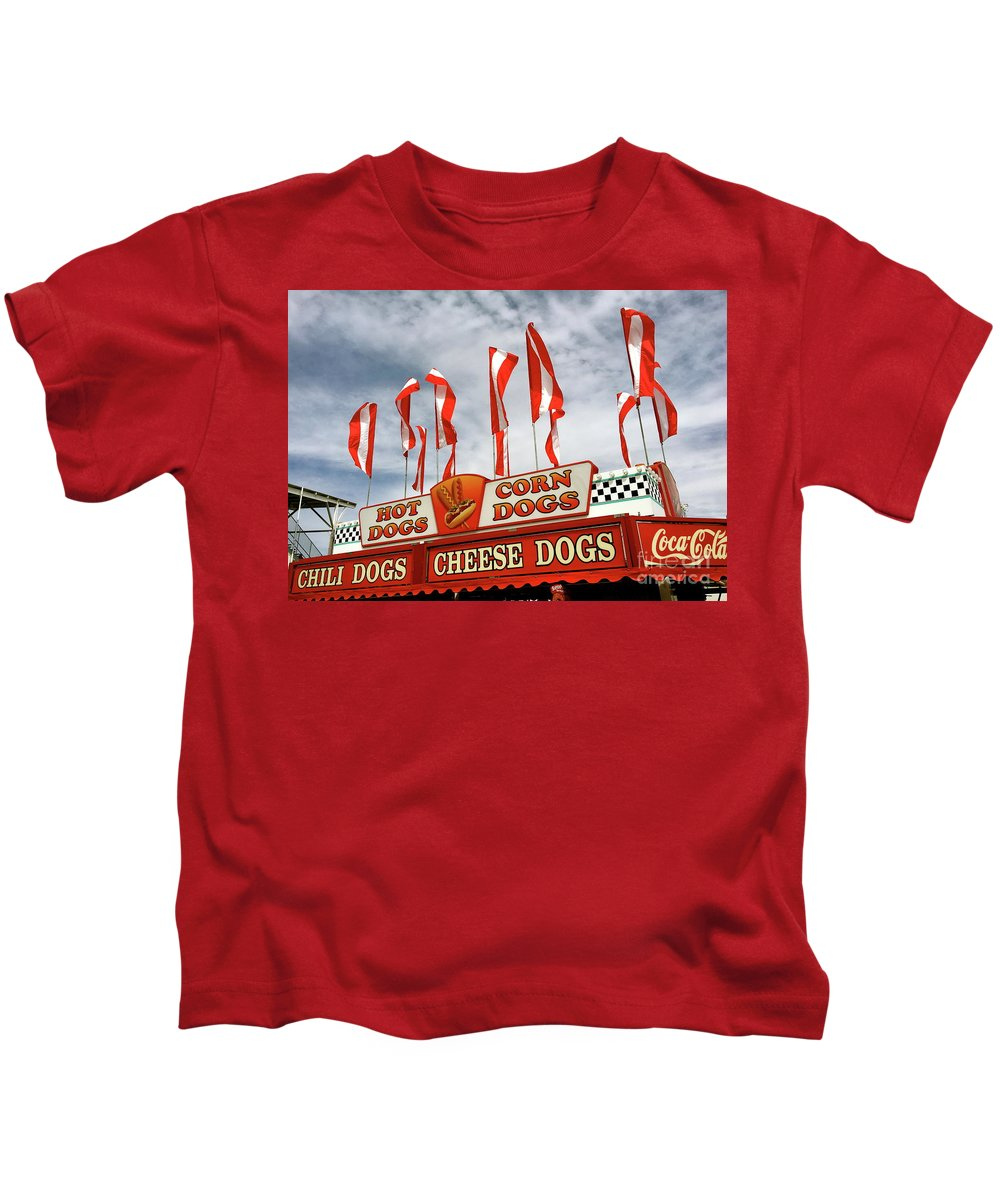Hot Dogs Kids T-Shirt featuring the photograph Cheese Dogs Galore by The Art of Alice Terrill