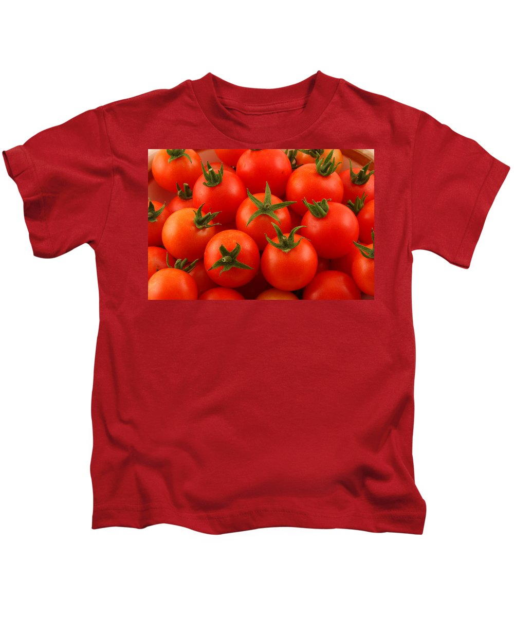 Cherry Tomatoes Kids T-Shirt featuring the photograph Cherry Tomatoes Fine Art Food Photography by James BO Insogna