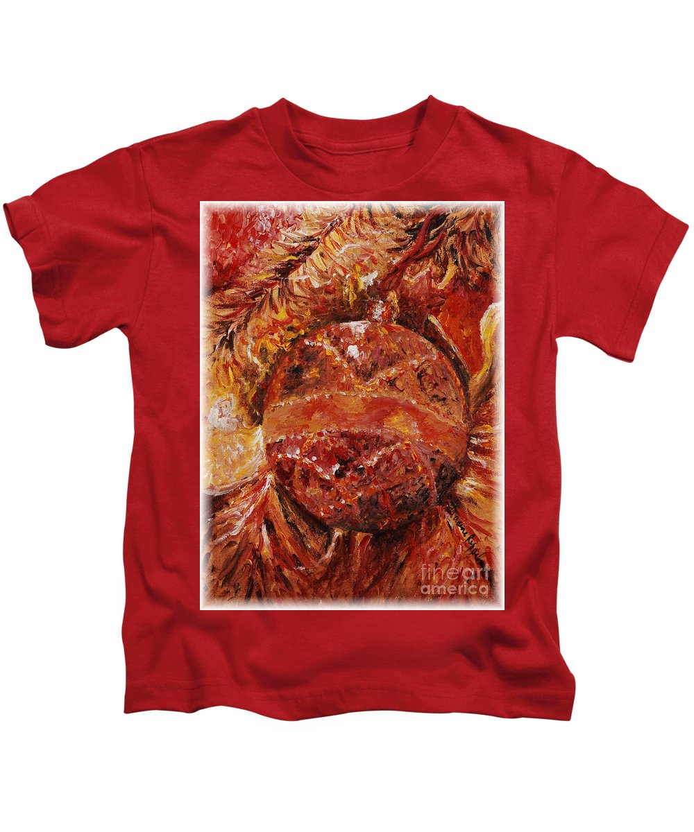 Christmas Kids T-Shirt featuring the painting Christmas Glitter by Nadine Rippelmeyer