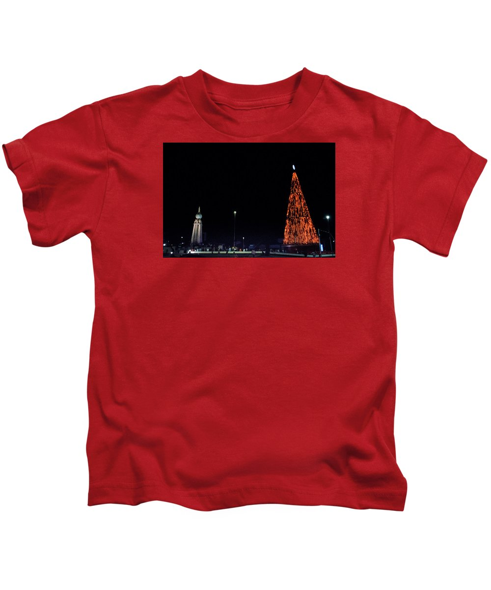 Christmas Tree Kids T-Shirt featuring the photograph Christmas Tree San Salvador 1 by Totto Ponce