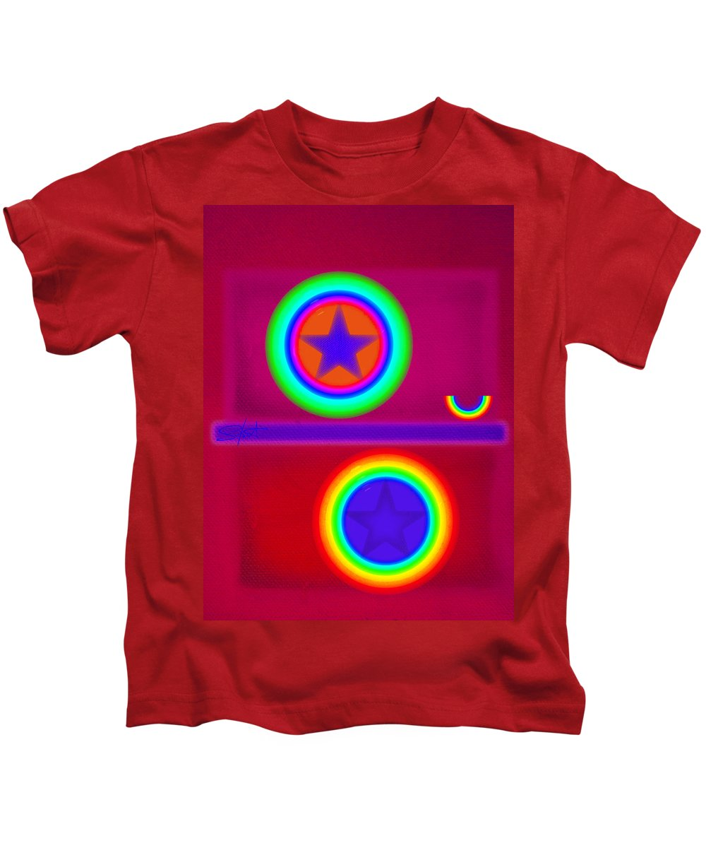 Balance Kids T-Shirt featuring the painting Circus Act by Charles Stuart
