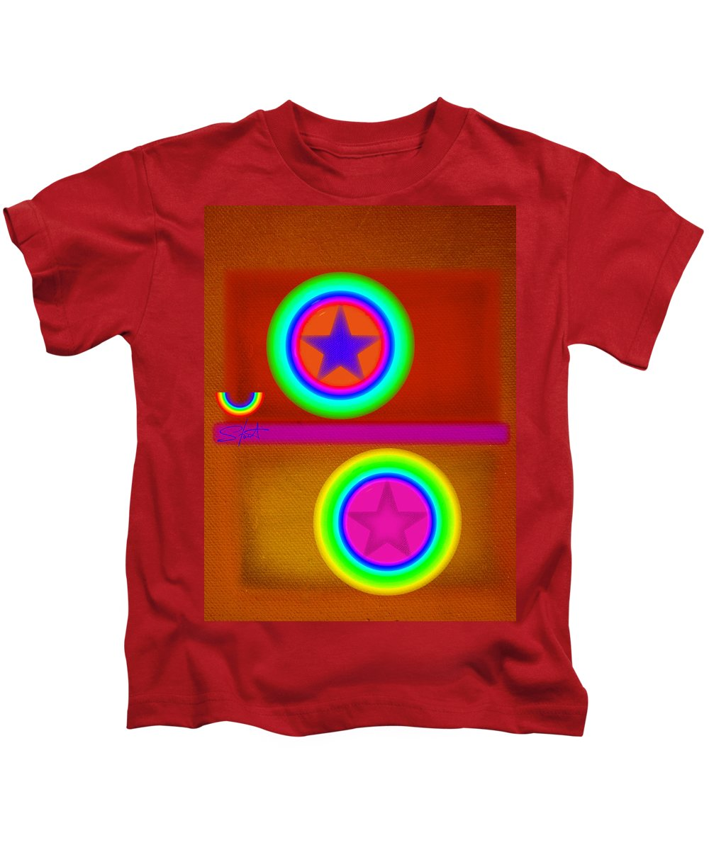 Balance Kids T-Shirt featuring the painting Circus Balls by Charles Stuart