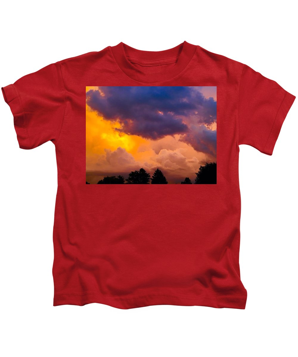 Clouds Kids T-Shirt featuring the photograph Clouds by Monica Liptak