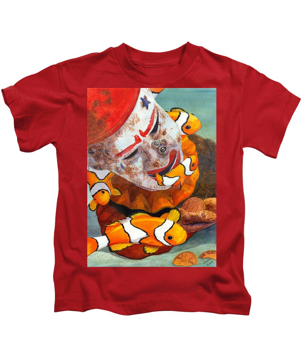Clown Kids T-Shirt featuring the painting Clown Fish by Catherine G McElroy