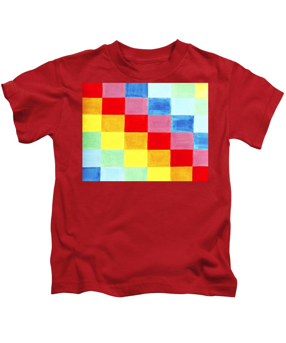 Abstract Kids T-Shirt featuring the painting Color Flag by Lee Serenethos