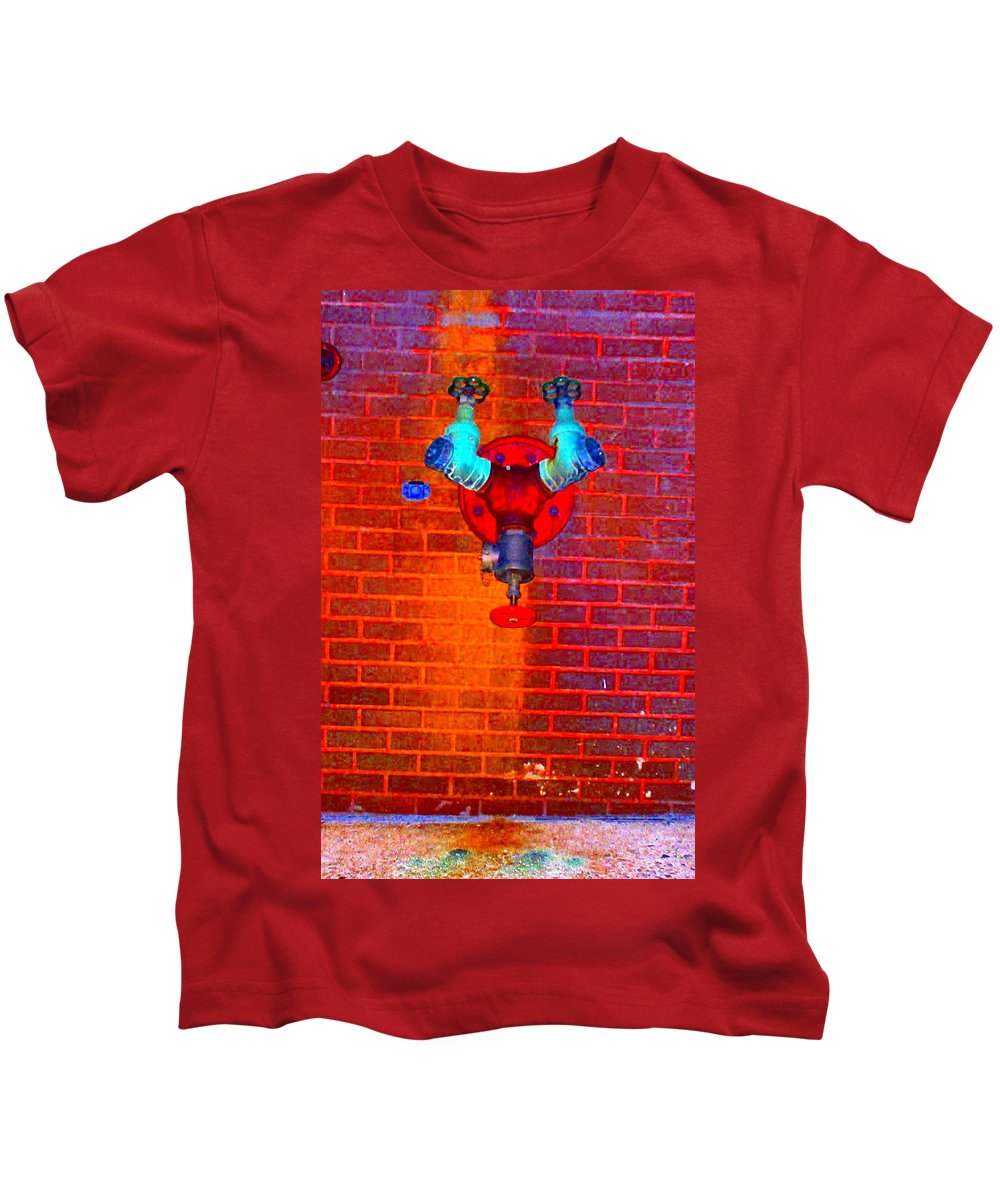 Color Photograph Kids T-Shirt featuring the photograph Color Pipe by Thomas Valentine