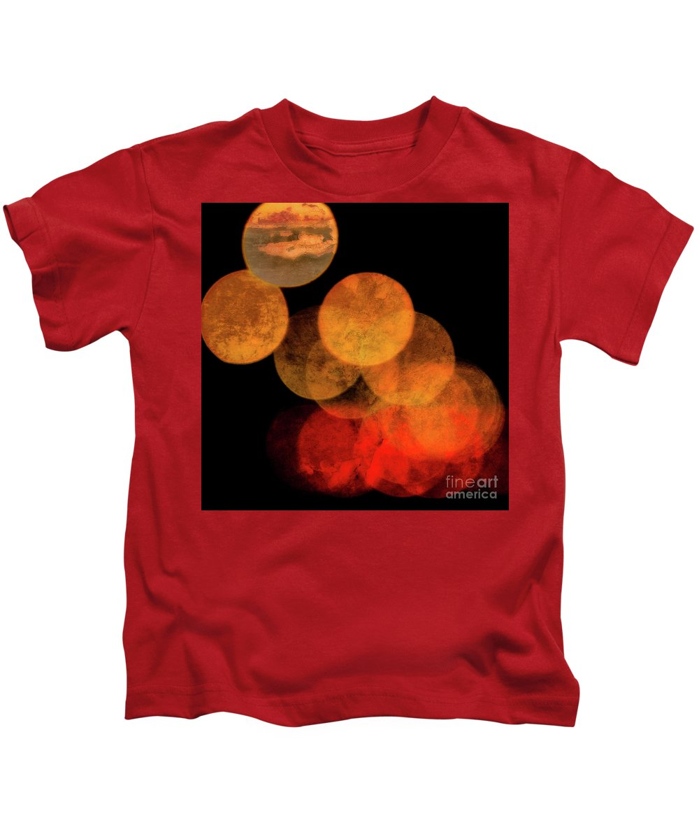 Colored Moons Kids T-Shirt featuring the photograph Colored Moons 4 by Doug Sturgess