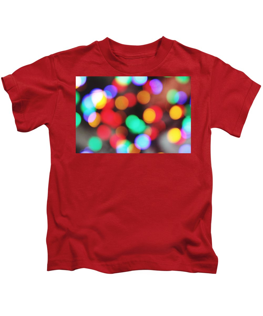 Colorful Kids T-Shirt featuring the photograph Colorful Bokeh by Hunter Kotlinski