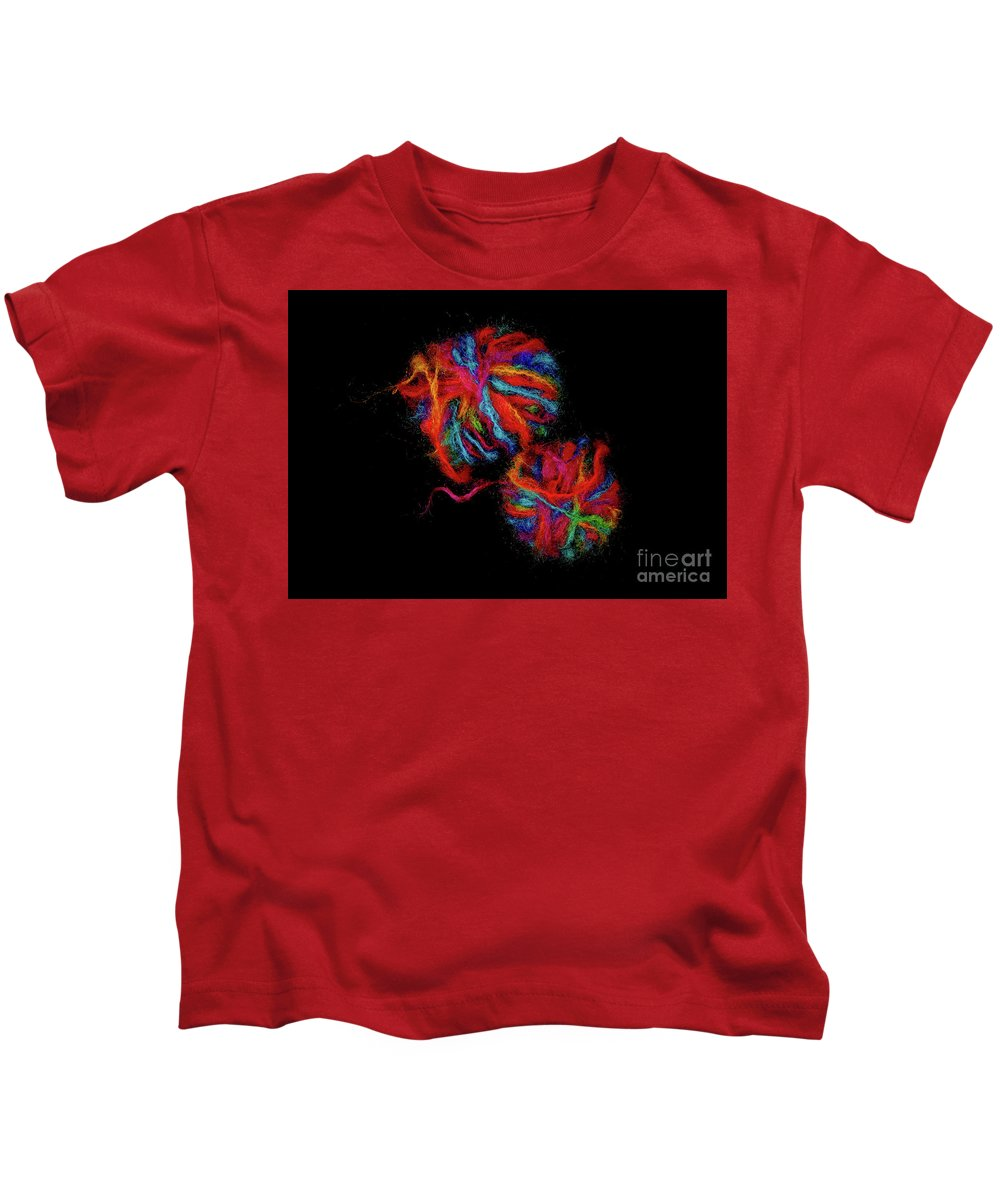 Wool Kids T-Shirt featuring the photograph Colorfully Wound by John Wijsman