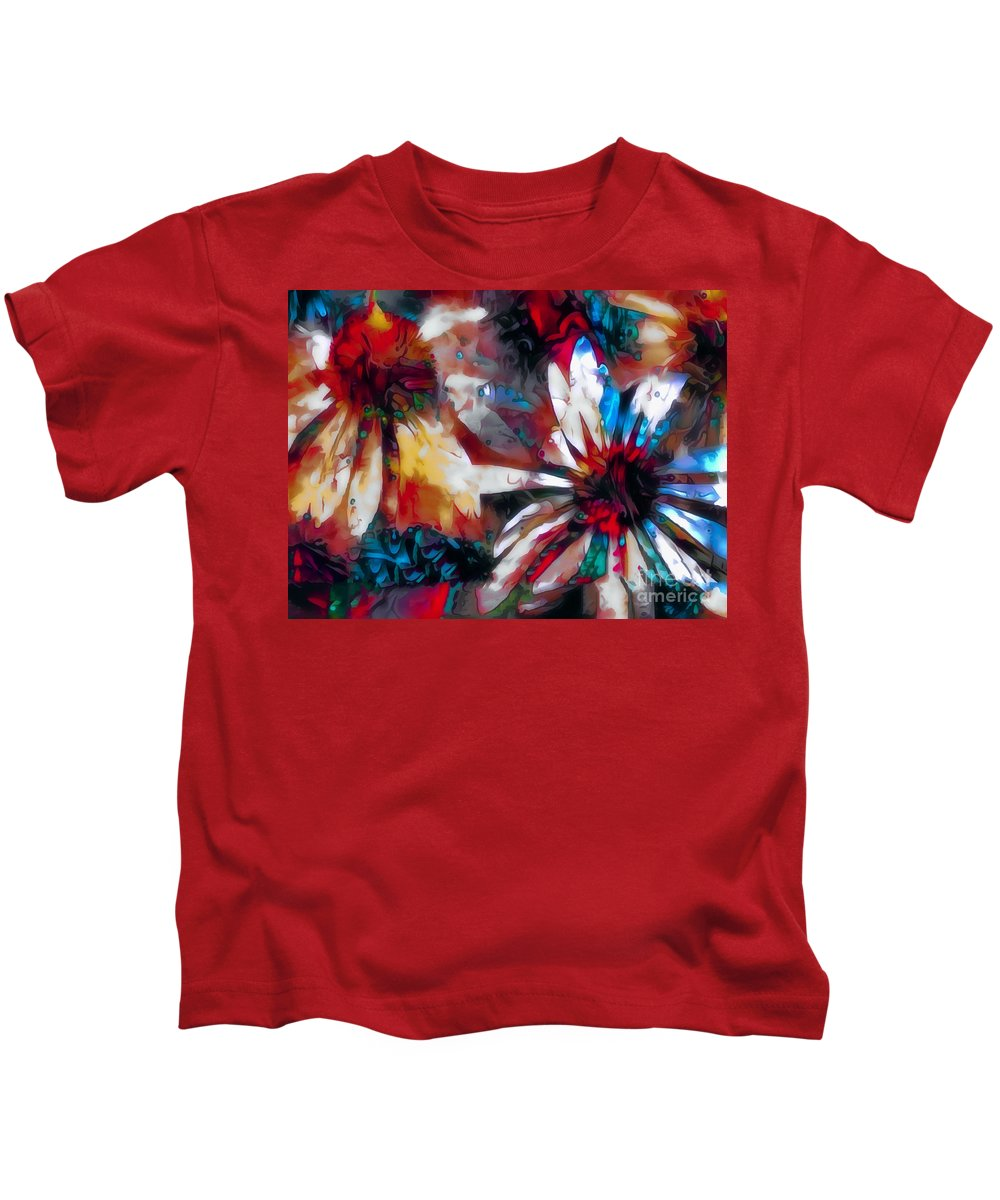 Flowers Kids T-Shirt featuring the photograph Cone Flower Fantasia I by Jack Torcello