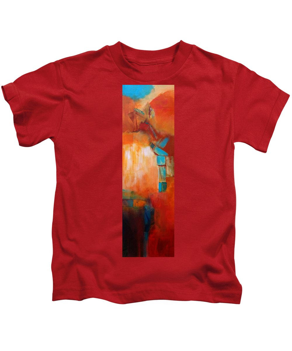 Abstract Original Canvas Contemporary Acrylic Mixed Media Kids T-Shirt featuring the painting Continuity2 by Nicholas Foschi