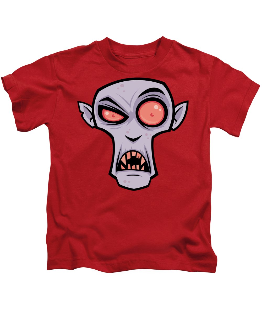 Dracula Kids T-Shirt featuring the digital art Count Dracula by John Schwegel