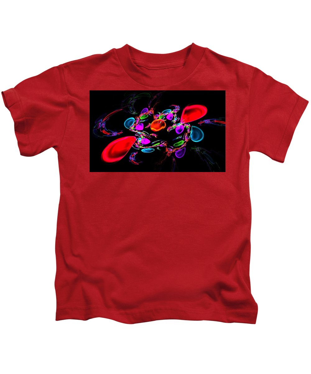 Abstract Kids T-Shirt featuring the digital art Crazy Crab by Norma Jean Lipert