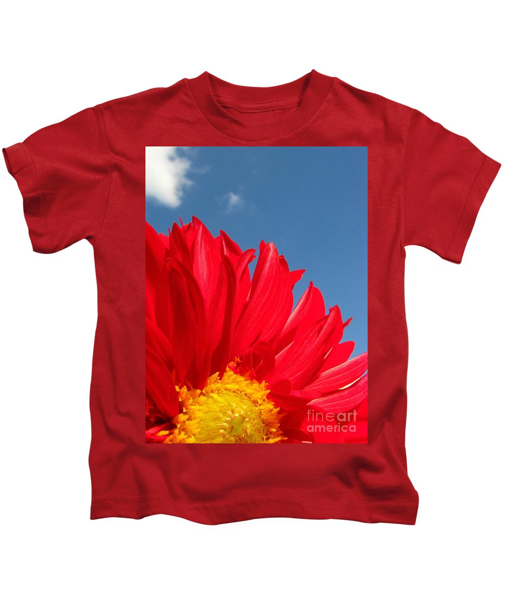 Dahlia Kids T-Shirt featuring the photograph Dahlia by Amanda Barcon